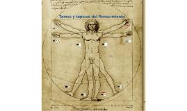Temas y tópicos del Renacimiento