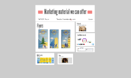 Marketing material we can offer