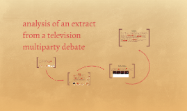 analysis of an extract from a television multiparty debate