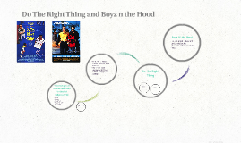 Do The Right Thing and Boyz n the Hood