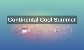 Continental Cool Summer