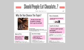 Should People Eat Chocolate