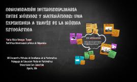 Escenarios de colaboración Interdisciplinaria entre música y