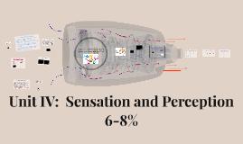 Unit IV:  Sensation and Perception