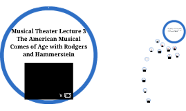 Musical Theater Lecture 3