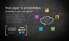 From paper to presentation