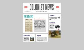 P3 COLONIST NEWS: Sugar Act
