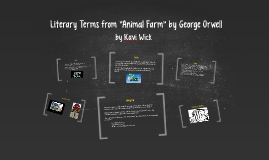 """Literary Terms from """"Animal Farm"""" by George Orwell"""