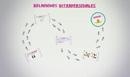 RELACIONES INTRAPERSONALES