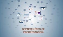 DEPARTAMENTO DE PSICOPEDAGOGIA