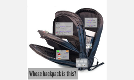 Whose backpack is this?