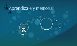 Aprendizaje y memoria.