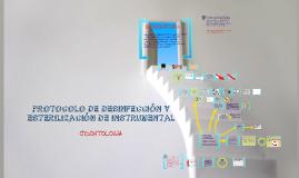protocolo de desinfección y esterilización de instrumetnal odontológico
