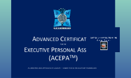 Advance Certificate Executive Personal Assistant (ACEPA)
