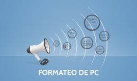 FORMATEO DE PC