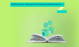 PED3010 Developing your LTP & DL subject knowledge