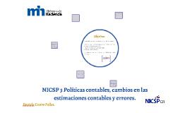 NICSP 3 Políticas contables, cambios en las estimaciones con