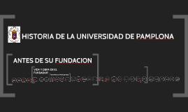 HISTORIA DE LA UNIVESIDAD DE PAMPLONA
