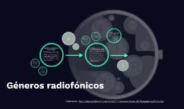 Géneros radiofónicos informativos
