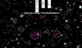"Thoreau's ""Civil Disobedience"""