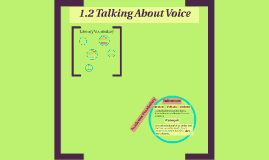 1.2 Talking About Voice