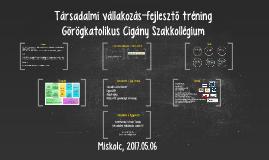 Társadalmi vállakozás-fejlesztő tréning