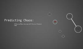 Predicting Chaos: