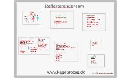 KAPE proces & rekruttering Reflekterende team
