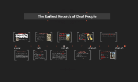 The Earliest Records of Deaf People