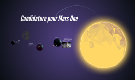 Candidature pour Mars One