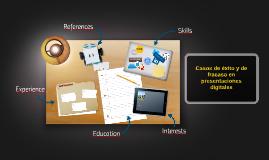 Casos de exito y de fracaso en presentaciones digitales