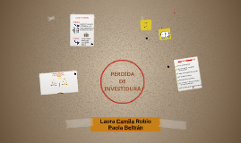 PERDIDA DE INVESTIDURA