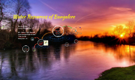Water Resources of Bangalore