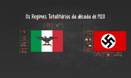 Copy of Regimes Totalitários da Década de 1920