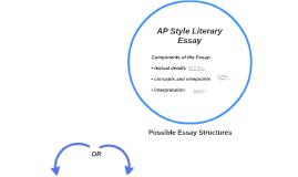 AP Style Literary Essay
