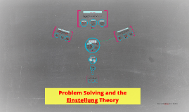 Problem Solving and the Einstellung Theory