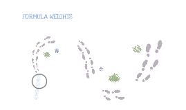 formula weight