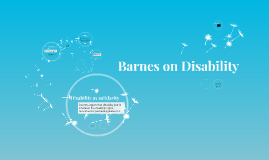 Barnes on Disability