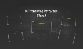 Copy of Differentiating Instruction