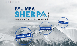 BYU SHERPA PROGRAM 2014-2015
