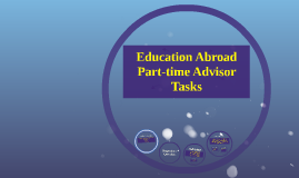 Education Abroad Part-time Advisor Position