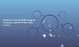 Analysis of Social Media Usage in Countries with McArthur Gl