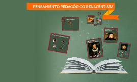 Copy of PENSAMIENTO PEDAGÓGICO RENACENTISTA
