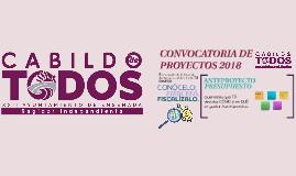 CONVOCATORIA DE PROYECTOS 2018