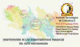 IDENTIFICACION DE LAS CARACTERISTICAS FORMALES DEL ARTE POST