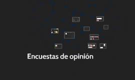ENCUESTAS DE OPINIÒN