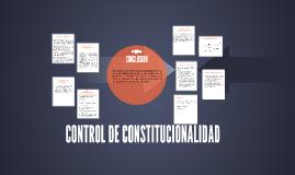 CONTROL DE CONSTITUIONALIDAD