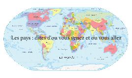 Copy of Les pays