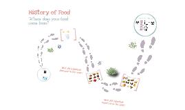 History of Food