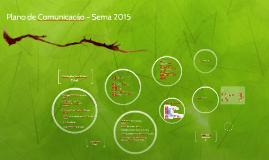 Plano de Comunicação Sema 2015